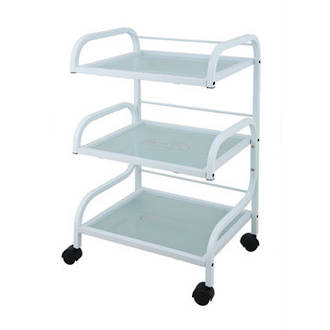 3-Tier Trolley Glass Shelf