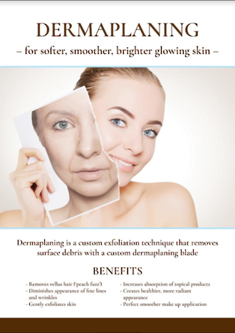 Dermaplaning Poster A3