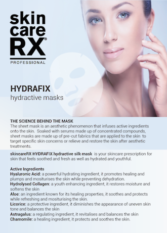 SkincareRX HydraFIX Hydractive Masks A5 Flyer - Pack of 50