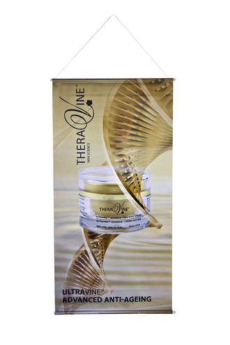 Theravine Gold Drop Banner - Ultravine Advanced Anti-Ageing