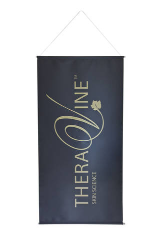 Theravine Gold Drop Banner - Gold on Grey