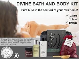 Theravine RETAIL Divine Bath and Body Kit Bag