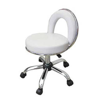 Pedicure Operator Stool - White