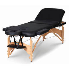 Black Portable Massage bed