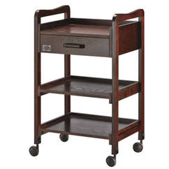3 Tier Trolley Solid Chocolate Wooden