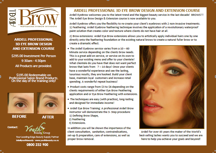 brow extension correct poster