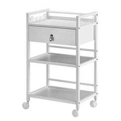 3-Tier Trolley - One Drawer Diamante Handle