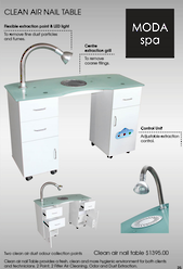 MODA Clean Air Nail Table